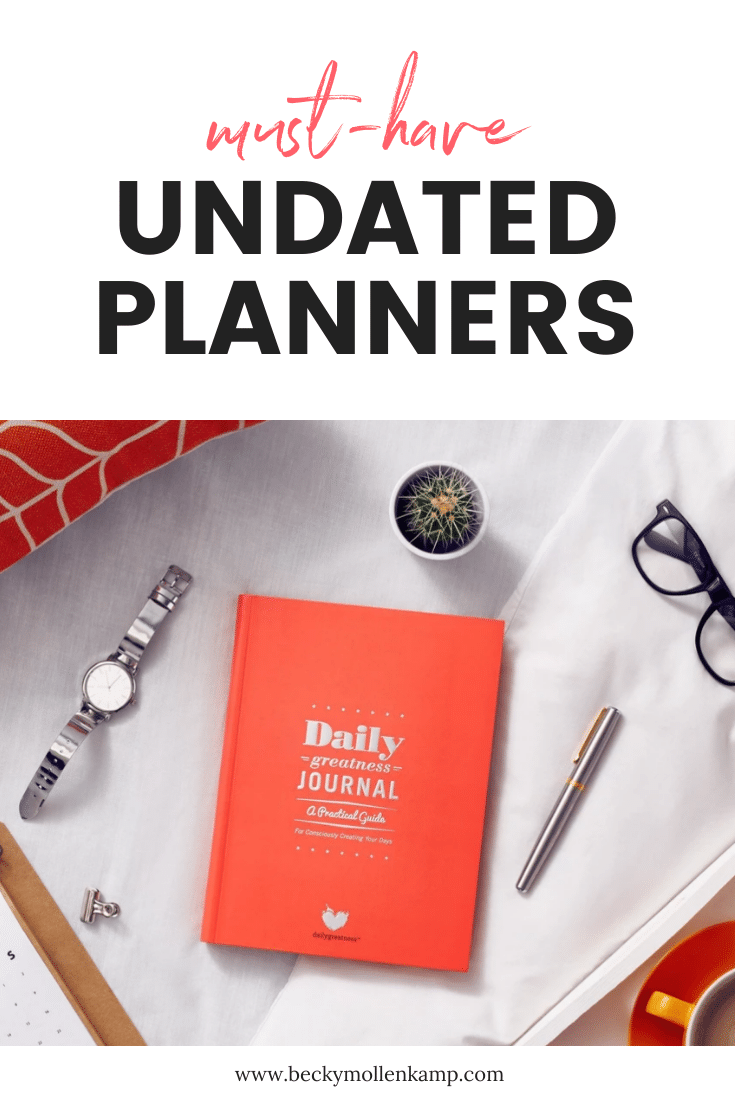list of the best non dated planners for women