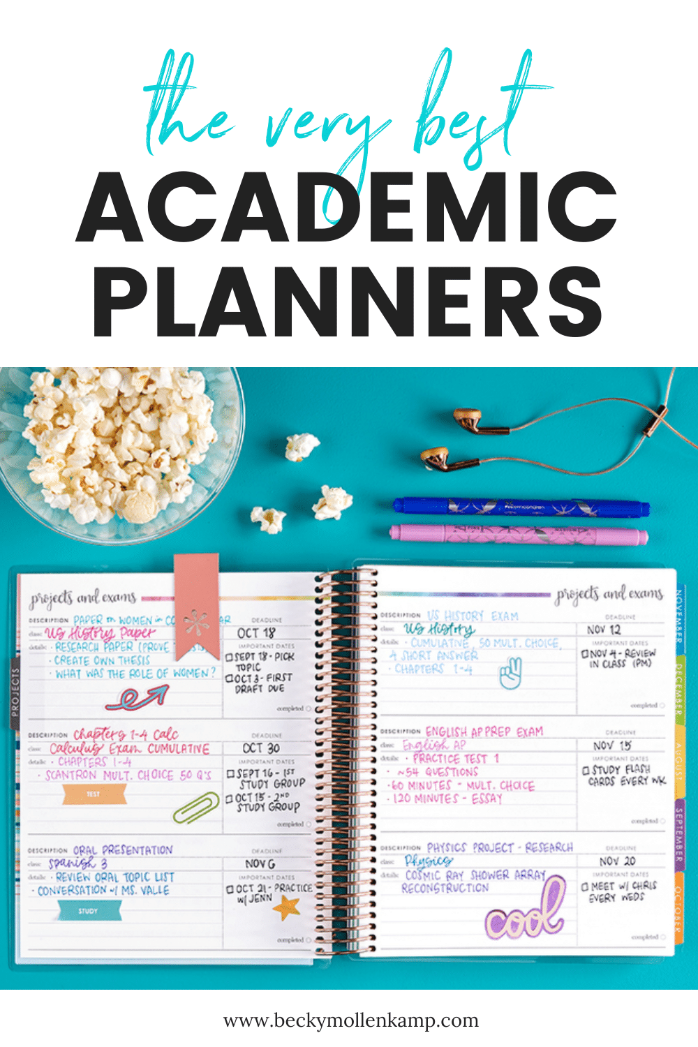 A great list of the best academic planners and mid-year calendars from BeckyMollenkamp.com